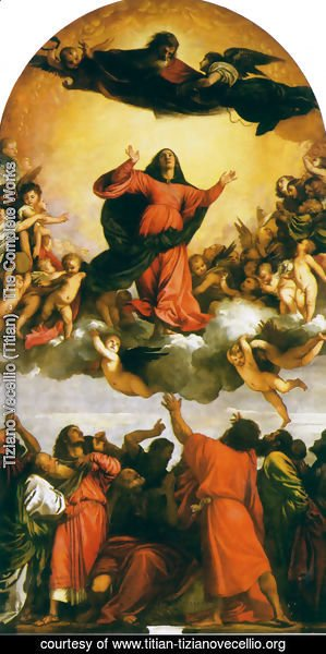 Tiziano Vecellio (Titian) - Assumption of the Virgin 1516-18