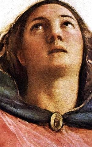 Tiziano Vecellio (Titian) - Assumption of the Virgin (detail-1) 1516-18