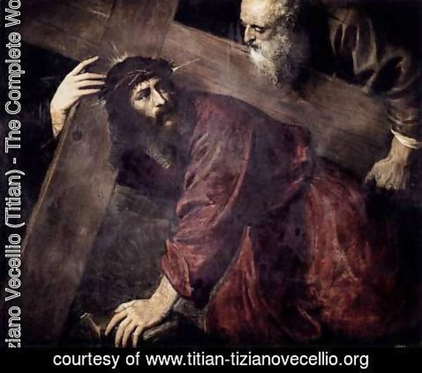 Tiziano Vecellio (Titian) - Christ Carrying the Cross c. 1565