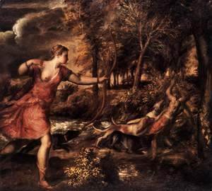 Tiziano Vecellio (Titian) - Death of Actaeon 1562
