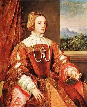 Tiziano Vecellio (Titian) - Empress Isabel of Portugal 1548