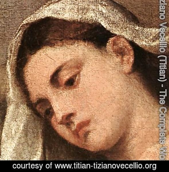 Tiziano Vecellio (Titian) - Madonna with Saints and Members of the Pesaro Family (detail-2) 1519-26