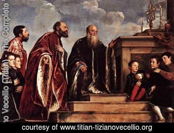 Tiziano Vecellio (Titian) - Male Members of the Vendramin Family c. 1547