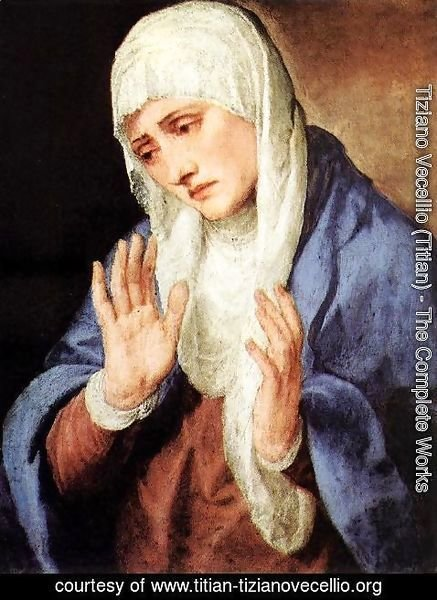 Tiziano Vecellio (Titian) - Mater Dolorosa (with outstretched hands) 1554