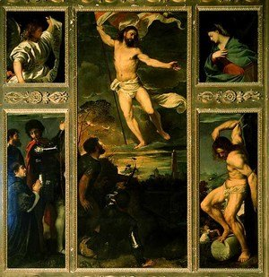 Tiziano Vecellio (Titian) - Polyptych of the Resurrection 1520-22