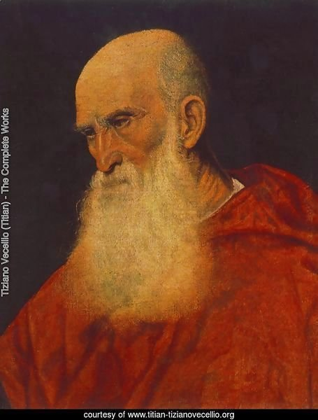 Portrait of an Old Man (Pietro Cardinal Bembo) 1545-46