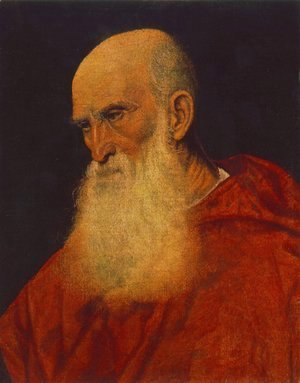Tiziano Vecellio (Titian) - Portrait of an Old Man (Pietro Cardinal Bembo) 1545-46