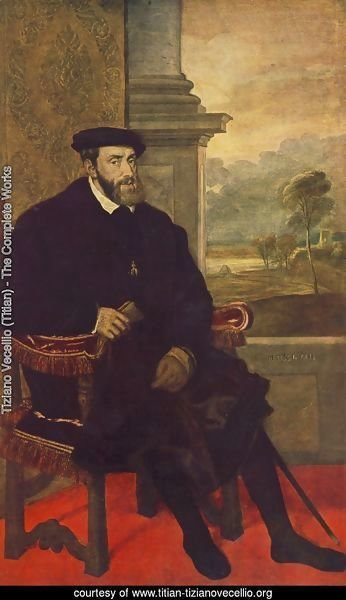 Portrait of Charles V Seated 1548