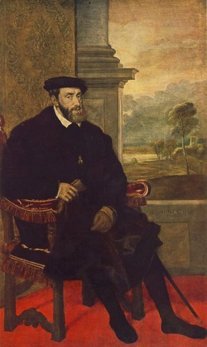 Tiziano Vecellio (Titian) - Portrait of Charles V Seated 1548