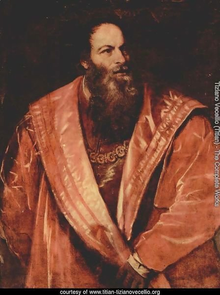 Portrait of Pietro Aretino 1545