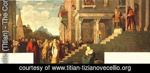 Tiziano Vecellio (Titian) - Presentation of the Virgin at the Temple 1539