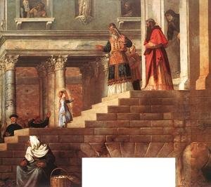 Tiziano Vecellio (Titian) - Presentation of the Virgin at the Temple (detail) 1539
