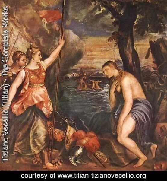 Tiziano Vecellio (Titian) - Religion Helped by Spain c. 1571