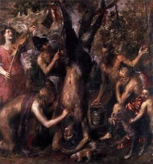 Tiziano Vecellio (Titian) - The Flaying of Marsyas 1575-76