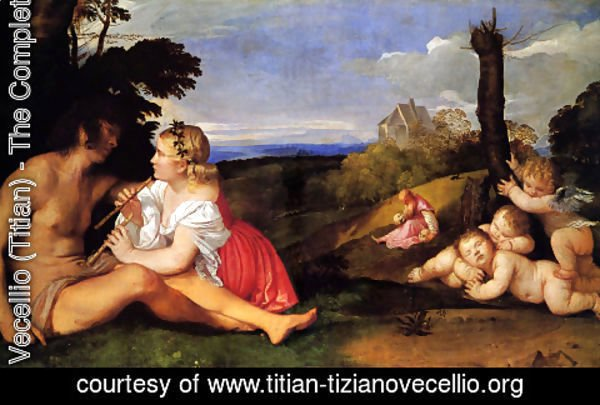 Tiziano Vecellio (Titian) - The Three Ages of Man 1511-12