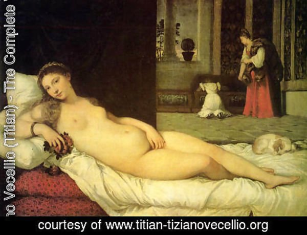 Tiziano Vecellio (Titian) - The Venus of Urbino 1538