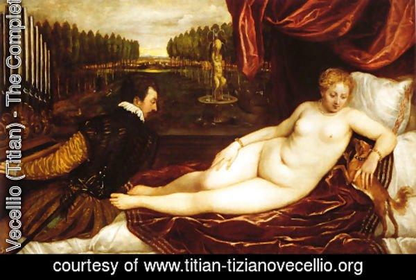 Tiziano Vecellio (Titian) - Venus with Organist and Cupid 1548