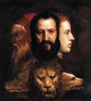 Tiziano Vecellio (Titian) - Allegory of Time Governed by Prudence 1565-70
