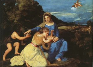 Madonna and Child with the Young St. John the Baptist and St. Catherine 1530