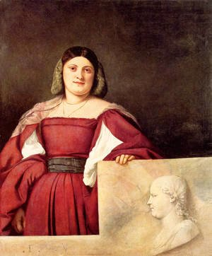 Tiziano Vecellio (Titian) - Portrait of a Woman called `La Schiavona`  1508-10