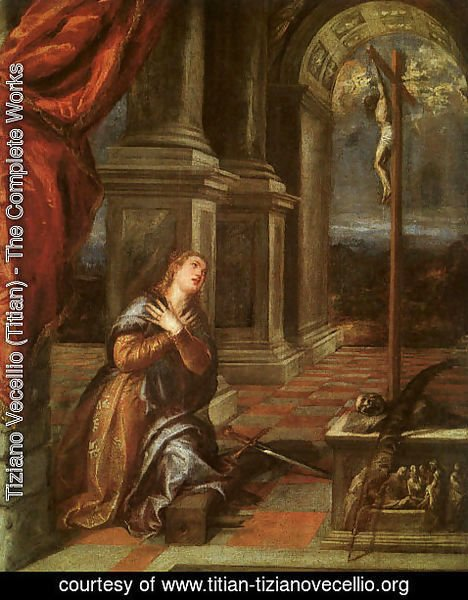 Tiziano Vecellio (Titian) - St. Catherine of Alexandria at Prayer 1567-68
