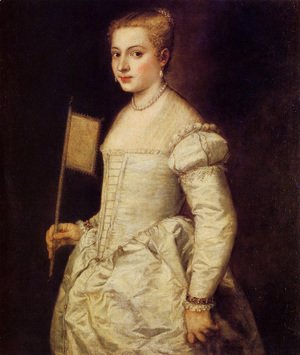 Tiziano Vecellio (Titian) - Woman in White