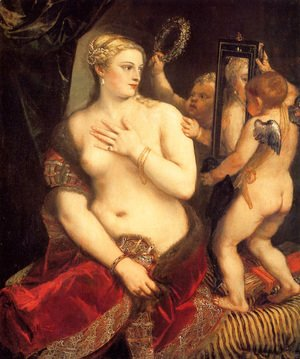 Tiziano Vecellio (Titian) - Venus in front of the mirror
