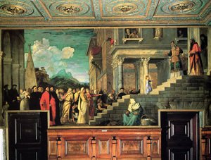 Tiziano Vecellio (Titian) - Entry of Mary into the temple