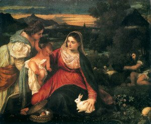 Madonna and Child with St. Catherine and a Rabbit