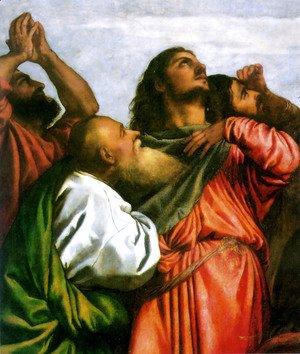 Tiziano Vecellio (Titian) - The Assumption of the Virgin [detail: 1]