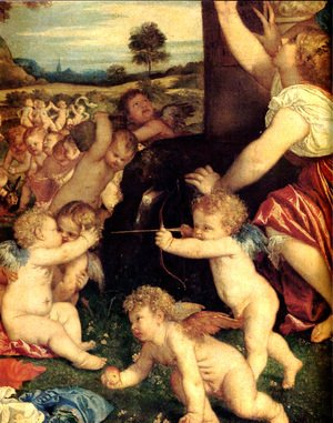 Tiziano Vecellio (Titian) - The Worship of Venus [detail: 1]