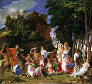 Tiziano Vecellio (Titian) - Feast of the Gods