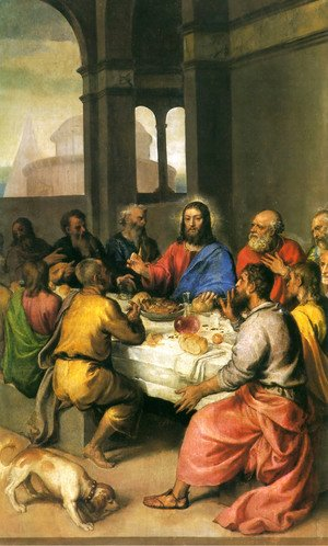 Tiziano Vecellio (Titian) - The Last Supper [detail]