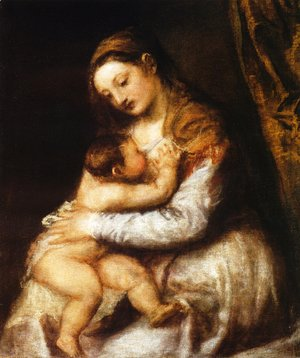 Tiziano Vecellio (Titian) - Madonna and Child
