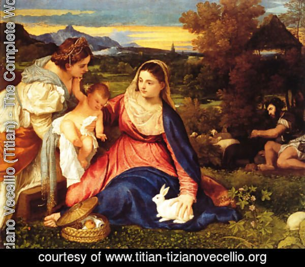 Tiziano Vecellio (Titian) - Madonna of the Rabbit