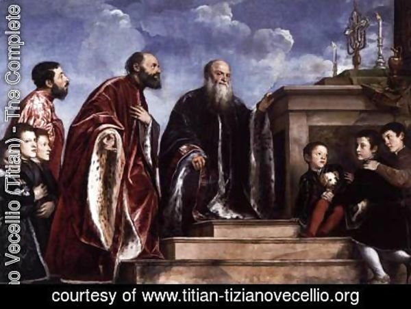 Tiziano Vecellio (Titian) - Votive Portrait of the Vendramin Family