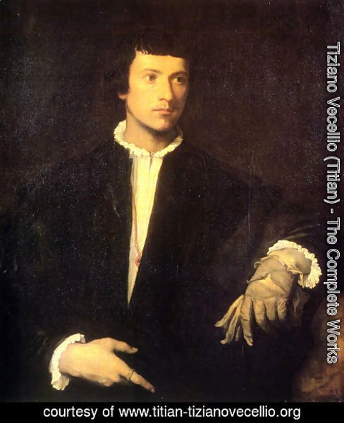 Tiziano Vecellio (Titian) - Man with Gloves