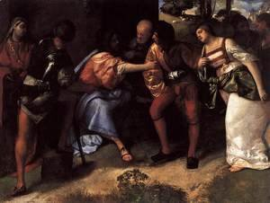 Tiziano Vecellio (Titian) - Christ and the Adulteress