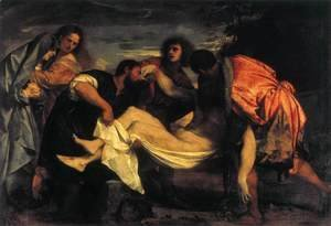 Tiziano Vecellio (Titian) - Entombment of Christ