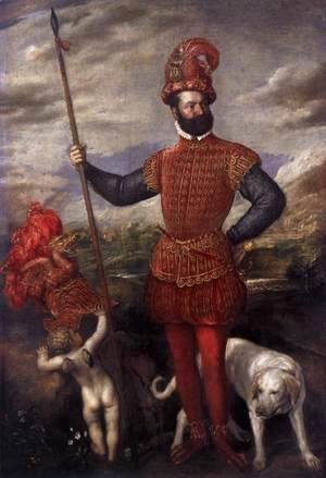 Tiziano Vecellio (Titian) - Man in Military Costume