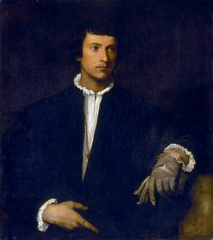 Tiziano Vecellio (Titian) - Man with a Glove