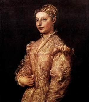 Tiziano Vecellio (Titian) - Portrait of a Girl