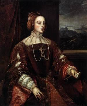 Tiziano Vecellio (Titian) - Portrait of Isabella of Portugal