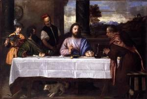 Tiziano Vecellio (Titian) - Supper at Emmaus