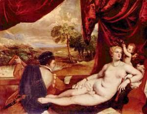 Tiziano Vecellio (Titian) - Venus and the lute player