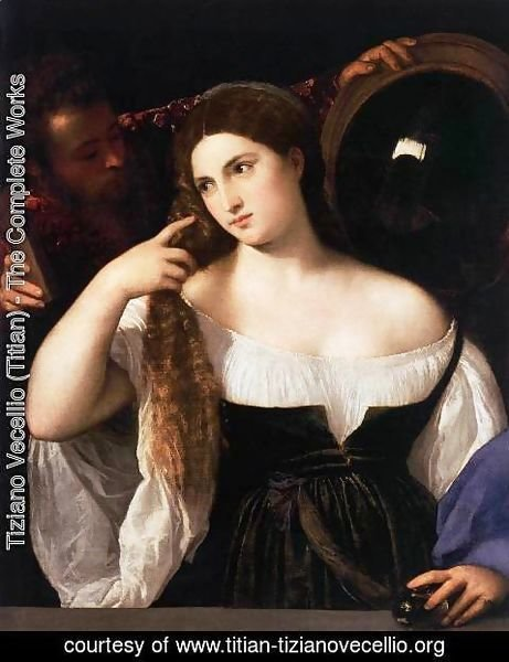 Tiziano Vecellio (Titian) - Woman with a Mirror