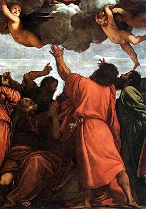 Tiziano Vecellio (Titian) - Assumption of the Virgin (detail) 4
