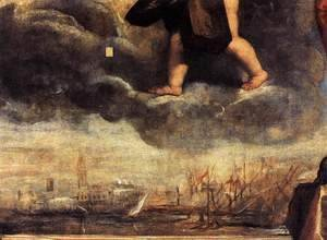 Tiziano Vecellio (Titian) - Doge Antonio Grimani Kneeling Before the Faith (detail 2)