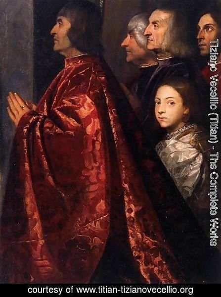 Tiziano Vecellio (Titian) - Madonna with Saints and Members of the Pesaro Family (detail 2)