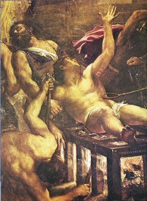 Martyrdom of St. lorenzo (detail)